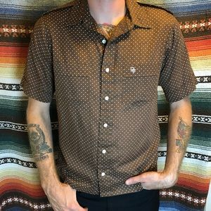 Vintage 70's Christian Dior Short Sleeve Button Up